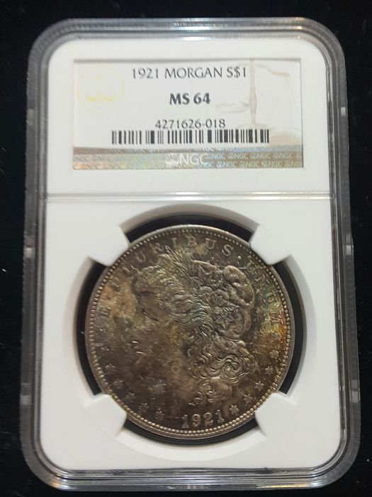 United States - Dollar 1921 'Morgan' in NGC Slab - silver