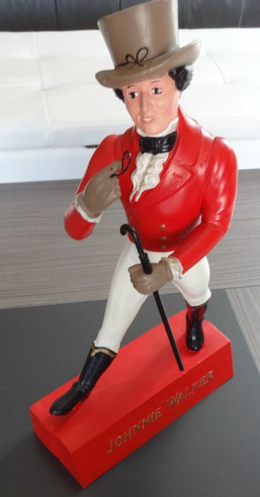 Very old 'Dandy' figurine for the Johnnie Walker whisky - 40 cm - Red - England - Circa 1950