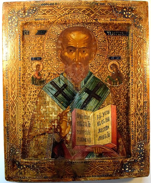 Russian orthodox iсon, Saint Nicholas - late XIXth century