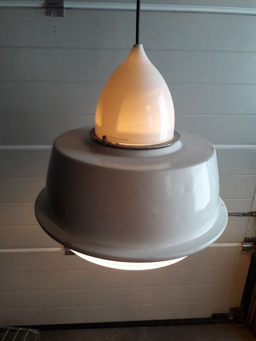 Unknown designer - Factory light from the dairy factory of Olterterp