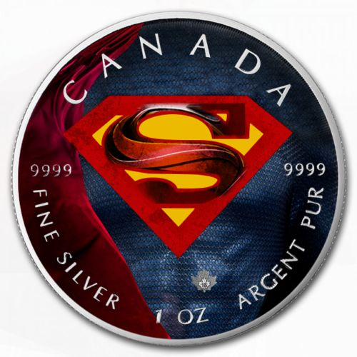 "Canada - 5 Dollar 2016 Superman- ""Suit II"" - Coloured 1 Oz - Zilver"