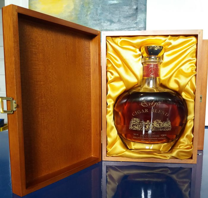 1 Bottle Cognac by Jacques Denis Extra Cigar Blend in Wooden Box
