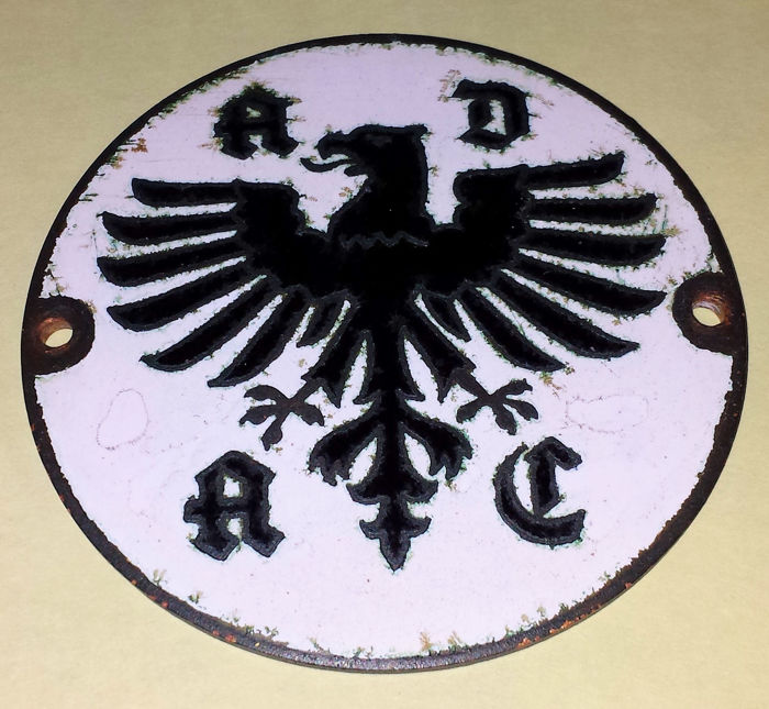 ADAC Grille Badge - Original version - Fairly used condition - Traces of ageing matching its age