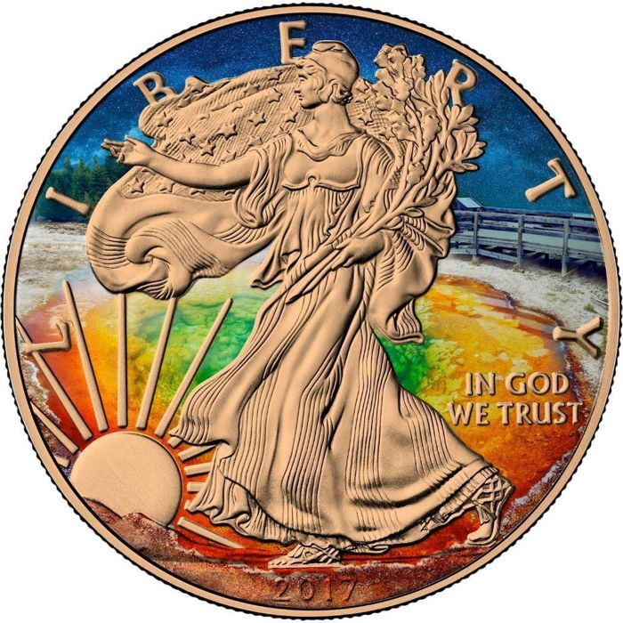United States - Dollar 2017 Eagle 'Liberty Yellow Stone Park' - 1 oz silver
