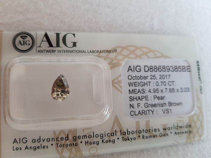 0.70 ct Pear cut diamond