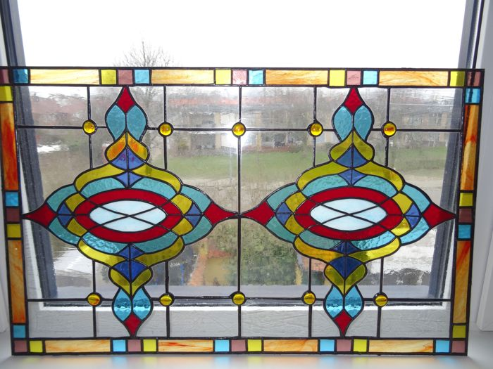 Window panel - in Art Nouveau style