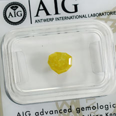 Natural brownish yellow diamond - 1.11 ct