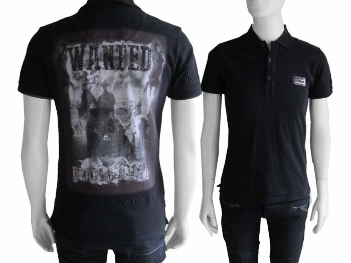 "Philipp Plein - Black ""Wanted"" Polo"