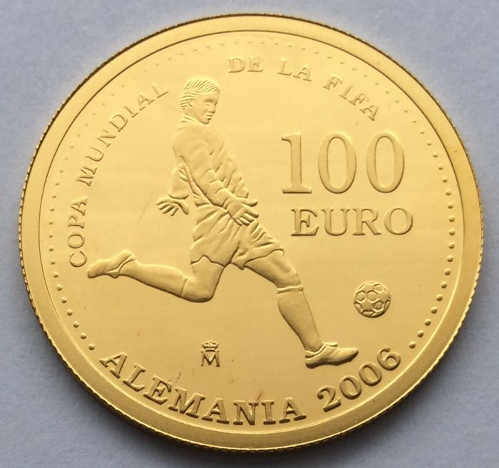 Spain - 100 Euro 2003 'FIFA World Cup 2006 in Germany' - gold