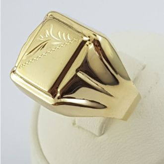 Men's Ring, 14 Ct Yellow Gold, size:23mm, Total Weight:4.29g