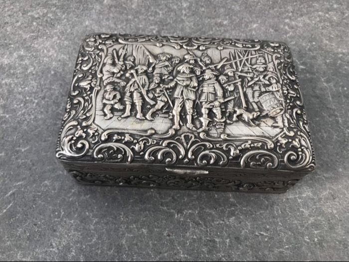 Silver box 800 silver, Germany, first half of the 20th century