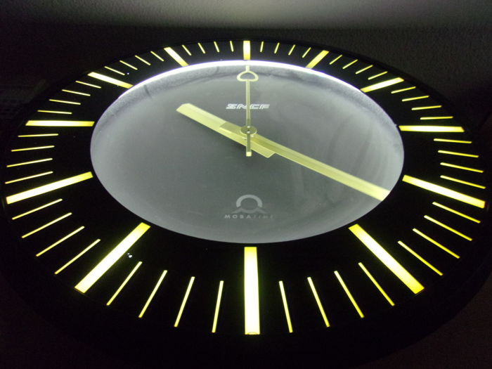 EXCEPTIONAL: Swiss-made SNCF Moba-line TGV train station clock