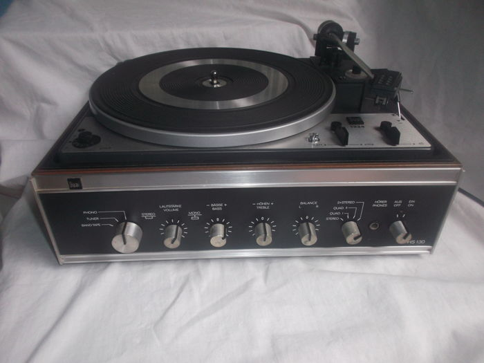 Dual turntable with amplifier type HS130/1224 with pitch control in mint condition