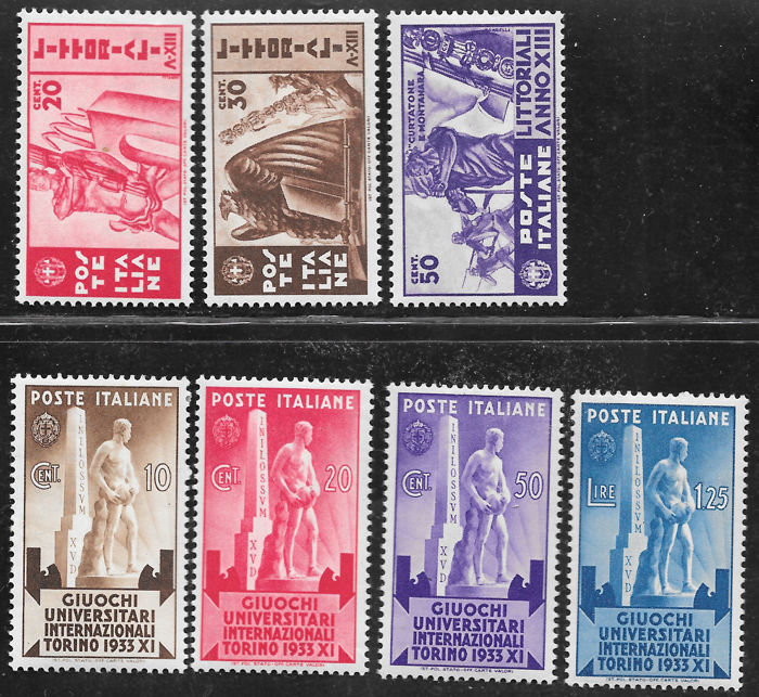 Kingdom of Italy, 1937-1943 - Kingdom - Lot of Four Complete Period Series