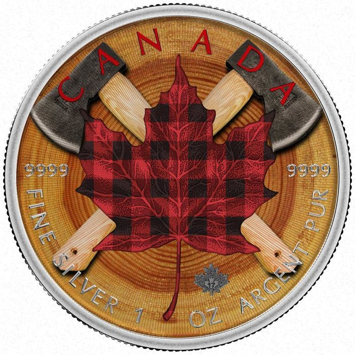 Canada - 5 Dollars 2017 Maple Leaf III 'Lumberjack' - 1 oz silver