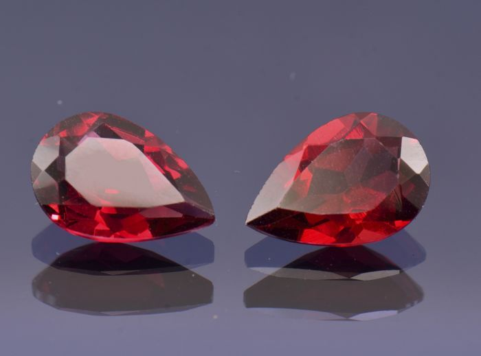 Two Rhodolite Garnet 2.32 and 1.98 cts. (4.30 cts total)