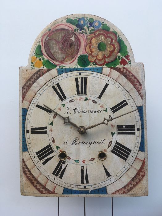 Large apple clock week movement - ca. 1880
