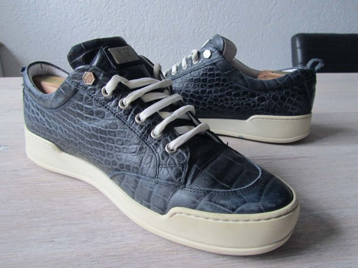 Philipp Plein - Leather Crocoprint Trainers