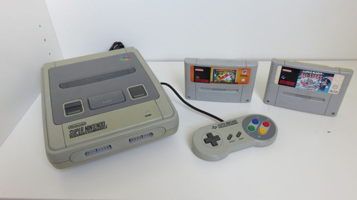 Super Nintendo console with controller & 2 games - Catawiki