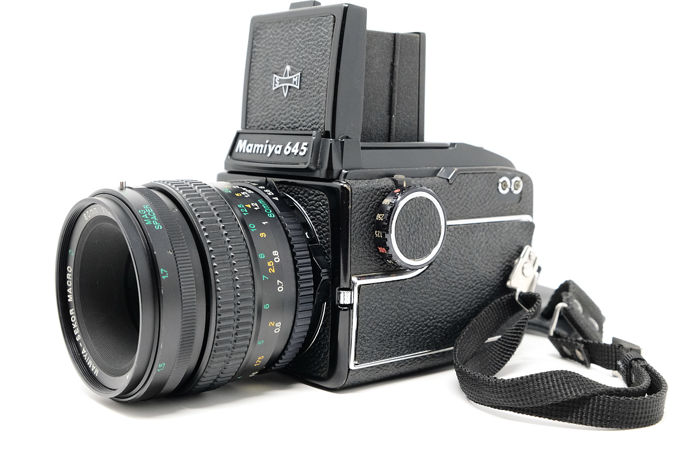 Mamiya 645 Medium Format SLR Film Camera Body, with 80mm F4 SEKOR