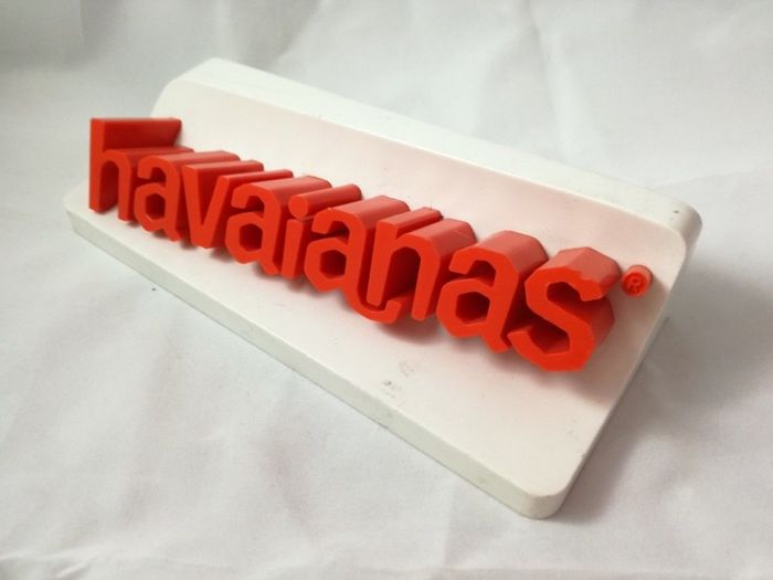Vintage 3d Havaianas Shoes Shop store Sign display
