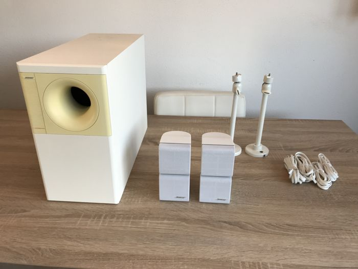 Complete Bose Acoustimass 5 series II in the white version with original Bose brackets