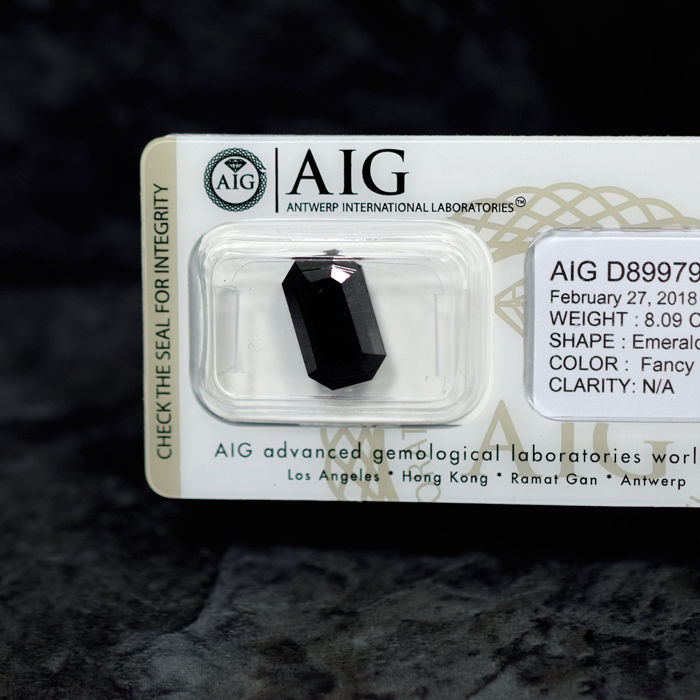 Black Diamond (treated) - 8.09 ct, NO RESERVE PRICE