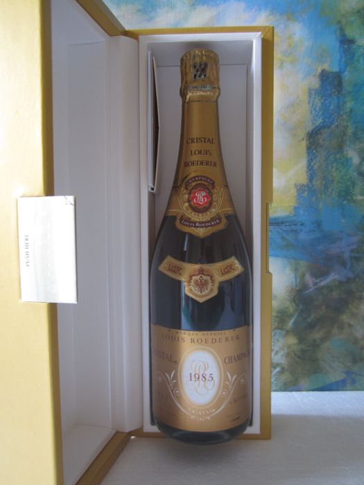 1985 Champagne Cristal Louis Roederer 75 cl 12% - with box