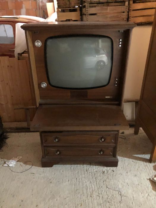 Tv wooden cabinet Germanvox - made in Italy - late 1960s