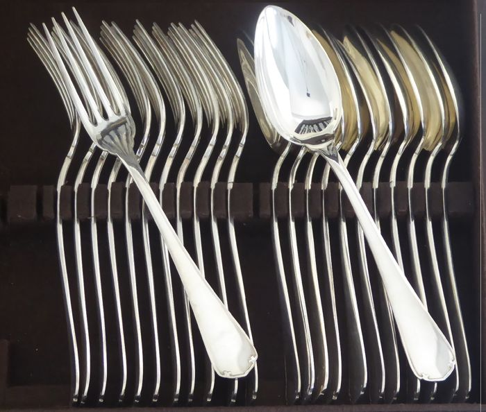 24-piece set of silver plated Christofle cutlery