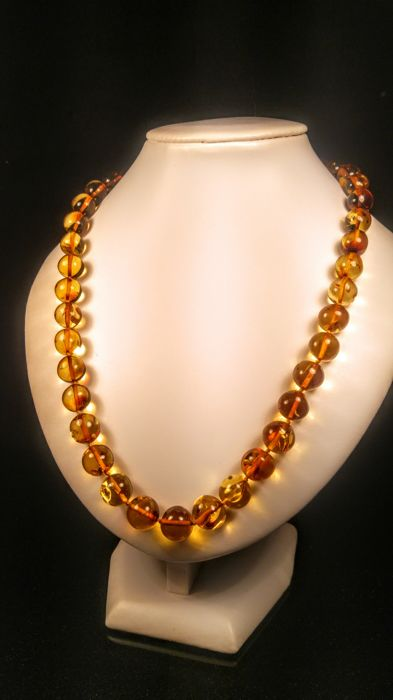 genuine cognac gold colour baltic amber necklace 36 grams catawiki