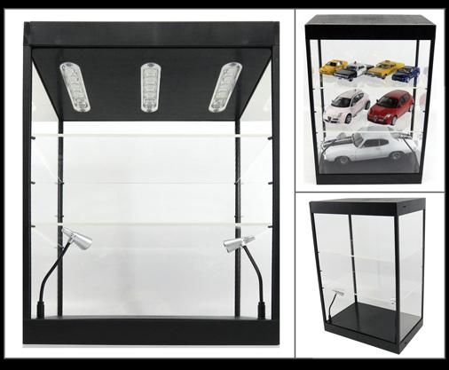 LED Lighted Display Case With 2 Adjustable Shelves - Linkwow