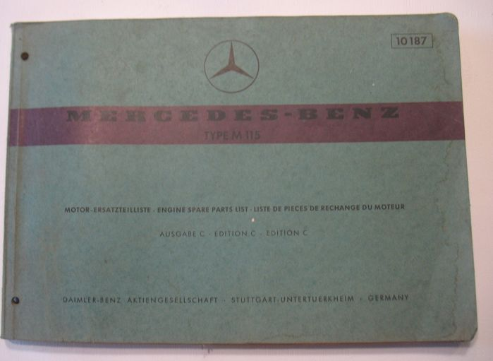 Mercedes-Benz - W115 workshop catalogue