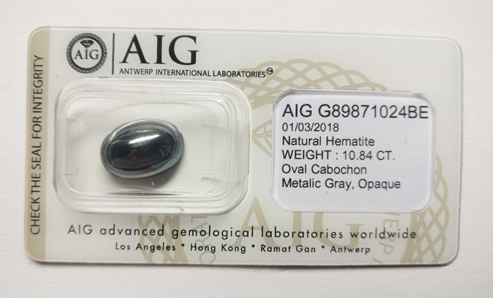 Hematite Metalic Gray 10.84 ct *** No Reserve ***