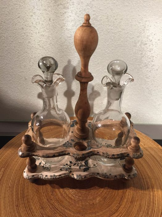 Antique oil and vinegar set