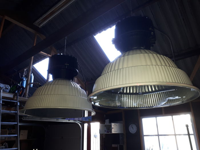 Unknown designer - Industrial factory lamps