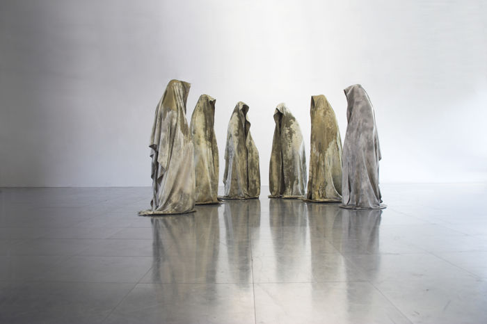 Manfred Kielnhofer - Carrara marble Guardians of Time - 5 sculptures