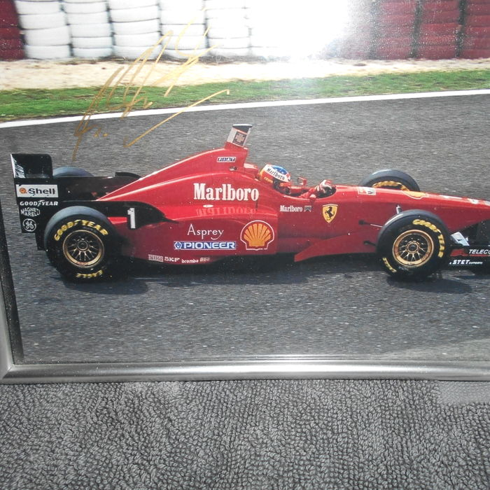 Michael Schumacher photo with autograph