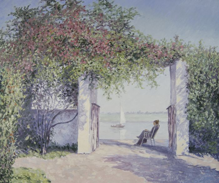 Chris J. van Dijk - ' Bougainvillea ' / Garden near the Loire river.