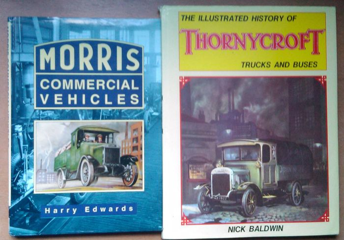2 x Books Vintage British Commercial Vehicles Thornycroft & Morris