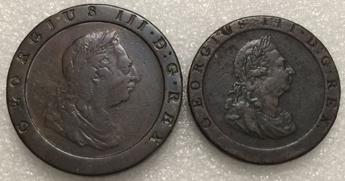 Great Britain - 1 Penny and 2 Pence 1797 George III
