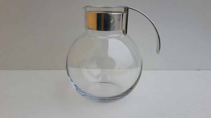 Lino Sabattini - carafe jug made of glass and silver plate