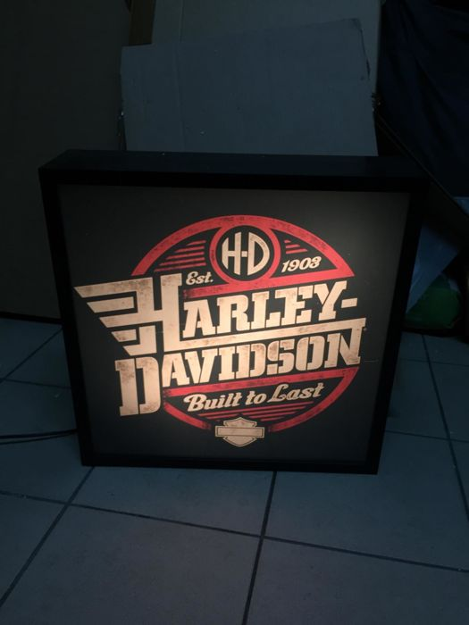 Decorative object - Harley Davidson  lightbox collectible item - 2017-2012