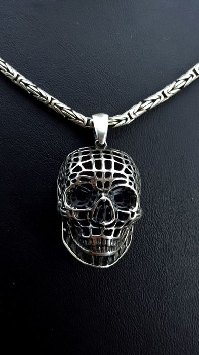 925 italian sterling silver chain with skull pendantlength of 925 italian sterling silver chain with skull pendantlength of chain60cm pendant mozeypictures Choice Image