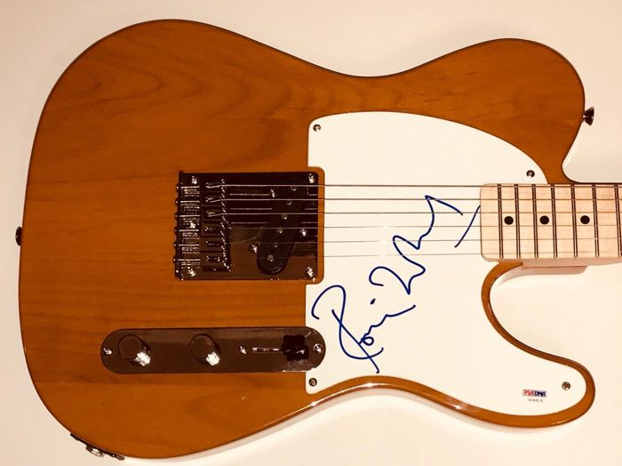 Ronnie Wood Rolling Stones signed guitar fender telecaster with psa dna coa