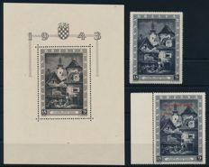 Croatia NDH - 1942 - 1943 - batch with mint stamps, also block 5 A/B, 6 and block 9