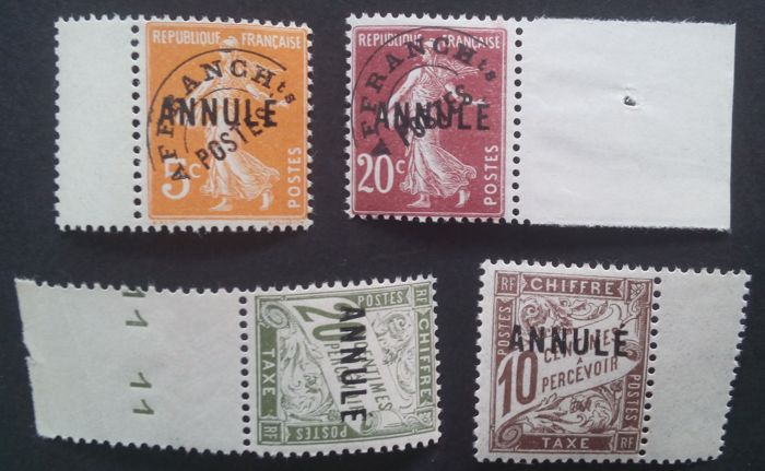 France 1923 Instruction Course Selection Of 4 Stamps Including 2