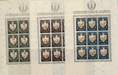 Croatia - 1943 - fatigue duty 2 kuna to 7 kuna in complete sheetlets