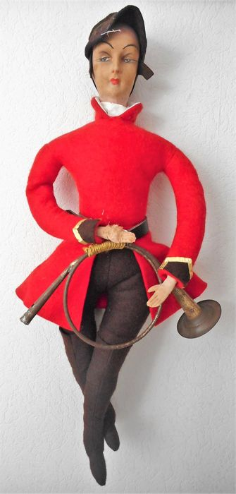 Antique English doll in fox hunting costume with hunting horn  sc 1 st  auctions - Catawiki & Antique English doll in fox hunting costume with hunting horn - Catawiki