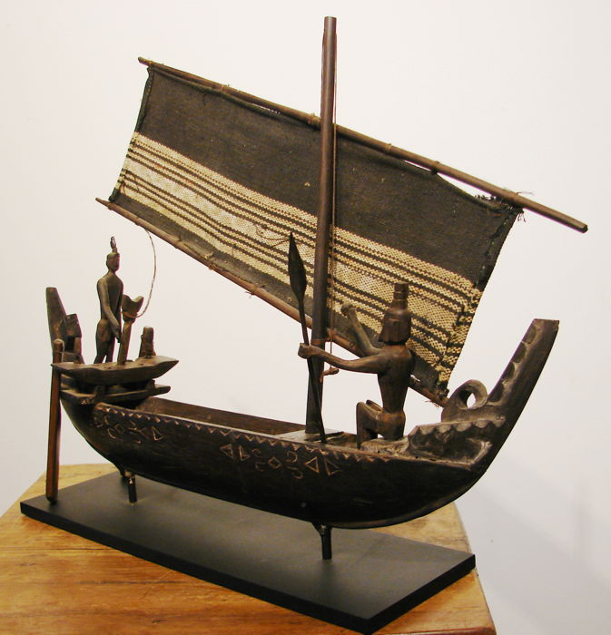 Ship Model of a Sailing Canoe-AMBON Maluku-Indonesia